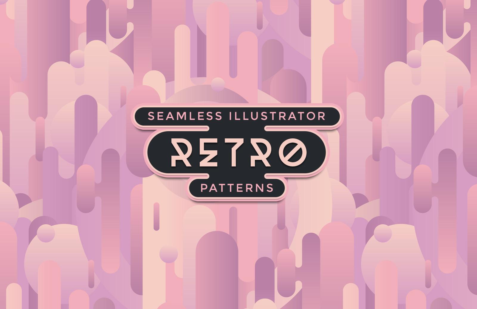 Retro Illustrator Patterns Preview 1