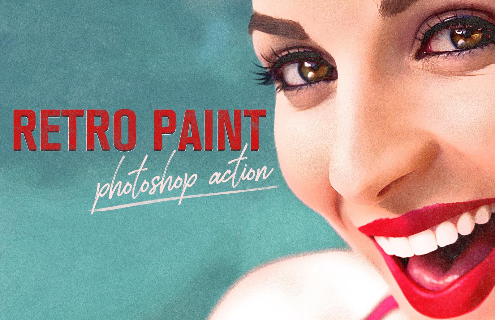 Retro Paint Photoshop Action Preview 1