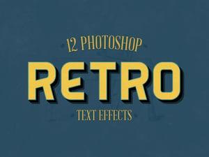 Retro Photoshop Text Effects 1