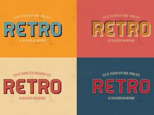 Retro Photoshop Text Effects 2