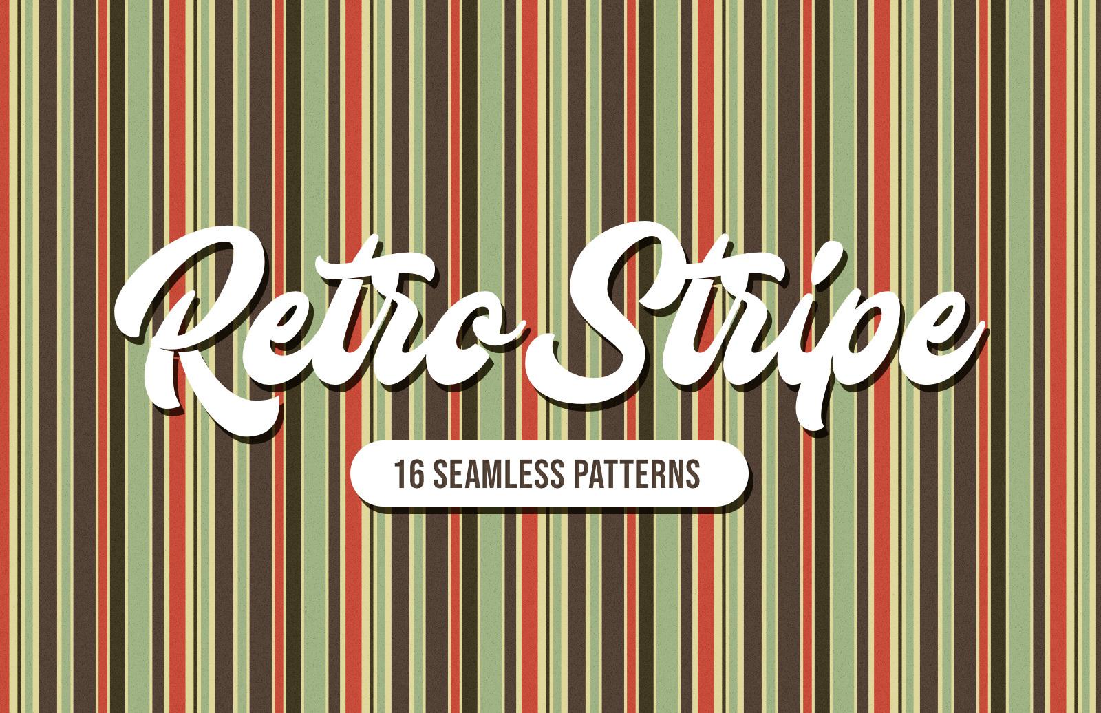 Retro Stripe Seamless Patterns Preview 1A