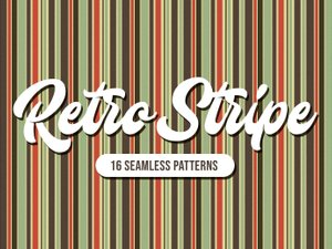 Retro Stripe Seamless Patterns 1