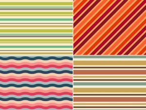 Retro Stripe Seamless Patterns 2