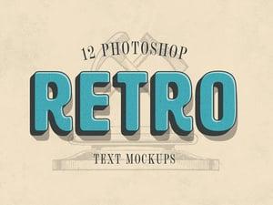 Photoshop Retro Text Mockups 1