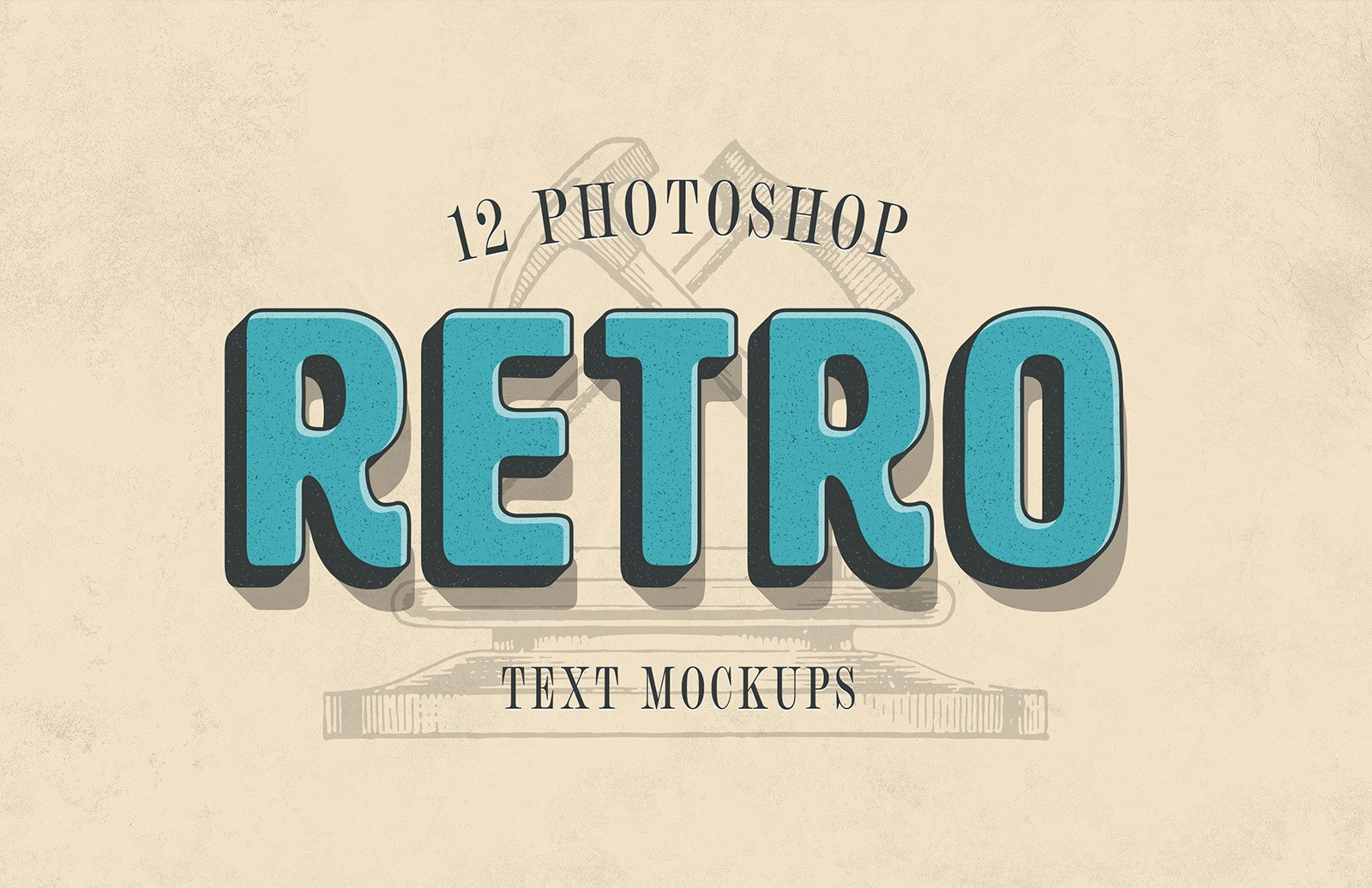 Retro Text Mockups Preview 1
