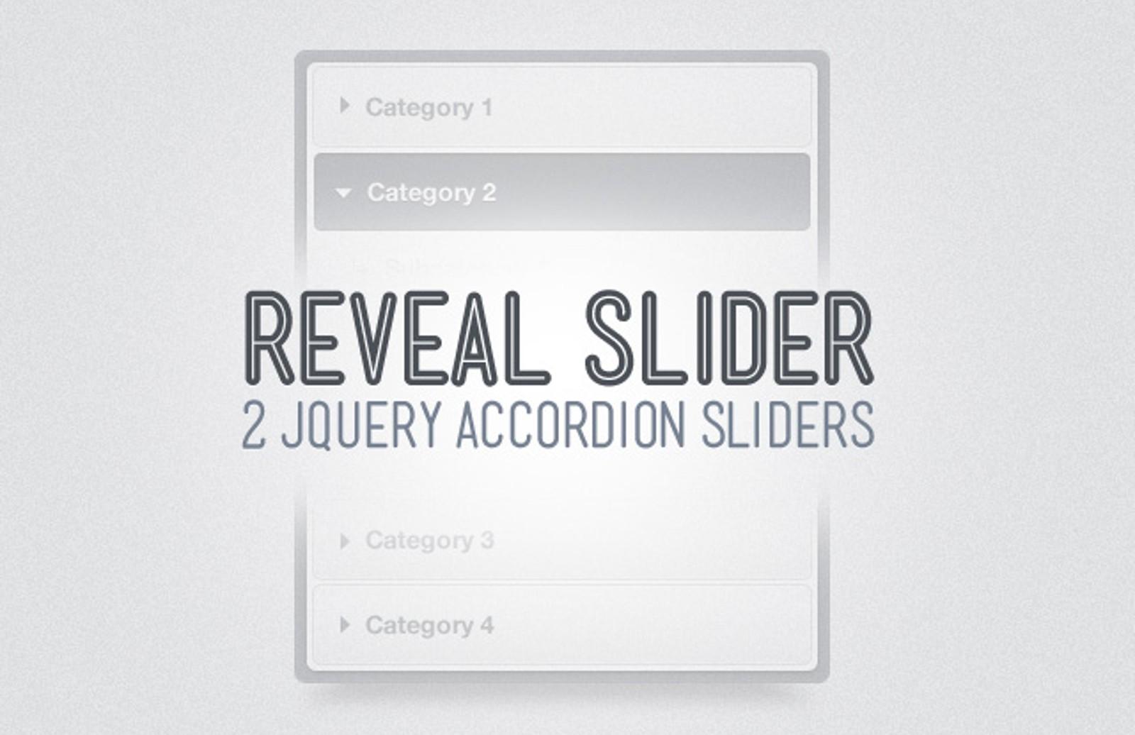 Reveal jQuery Accordion Slider