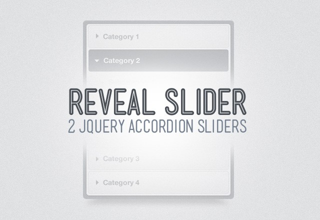 Reveal jQuery Accordion Slider
