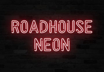 Roadhouse Neon - Double Outline Font