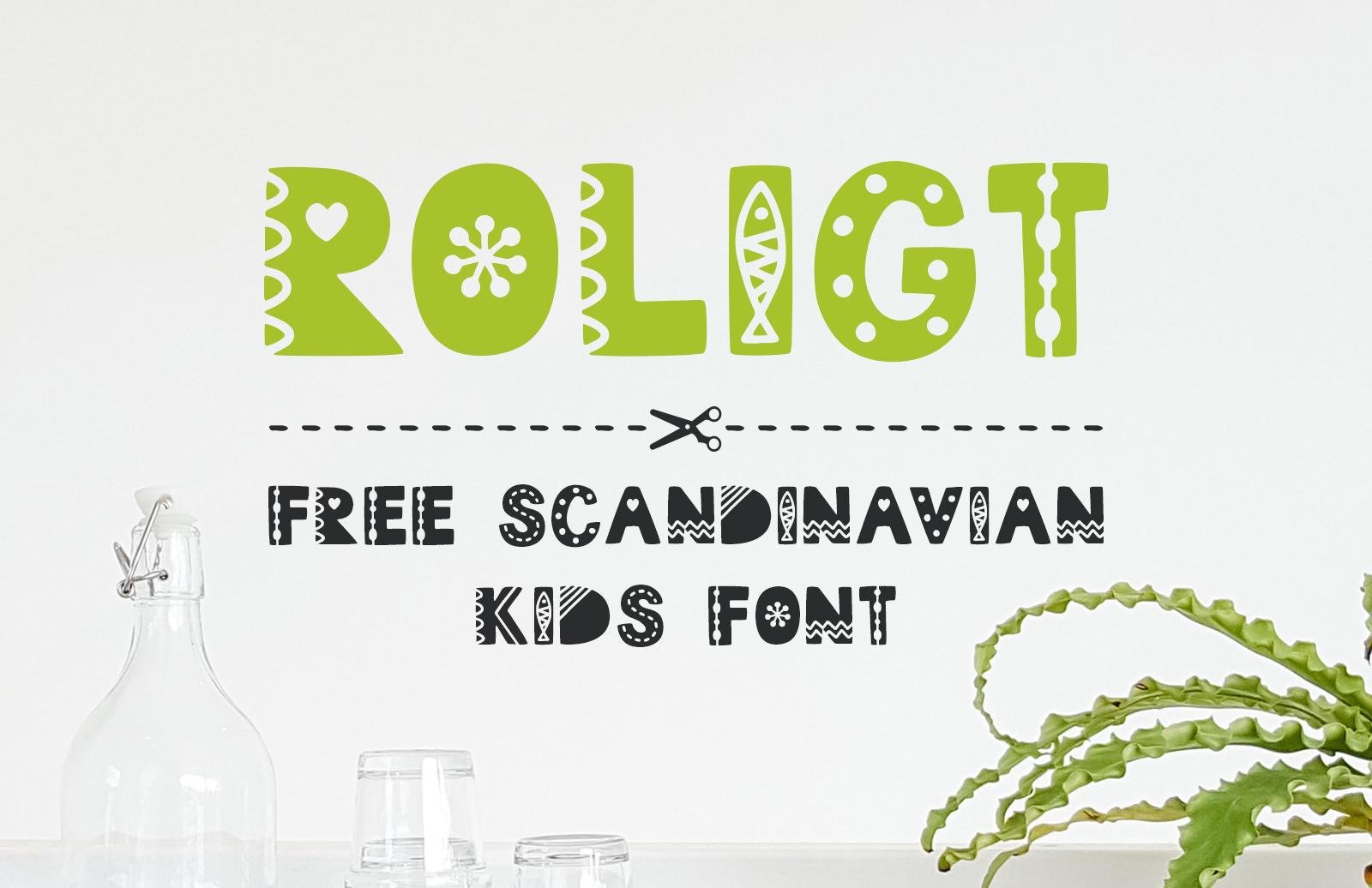 Roligt - Free Scandinavian Kids Font