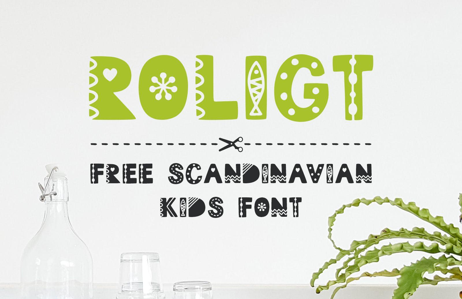 Roligt Scandinavian Kids Font Preview 1A
