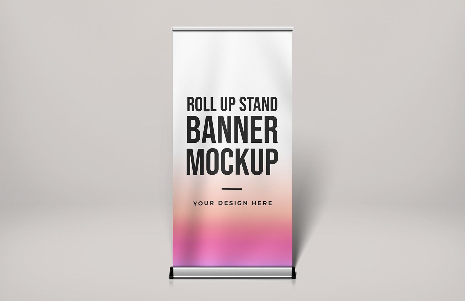 Free Roll Up Stand Banner Mockup