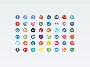 Round Social Icons 2