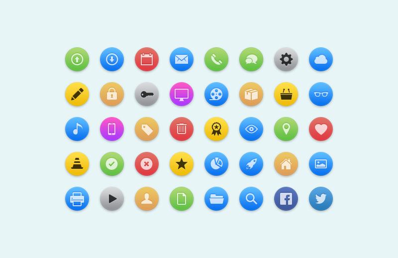 Free Round Web Icons
