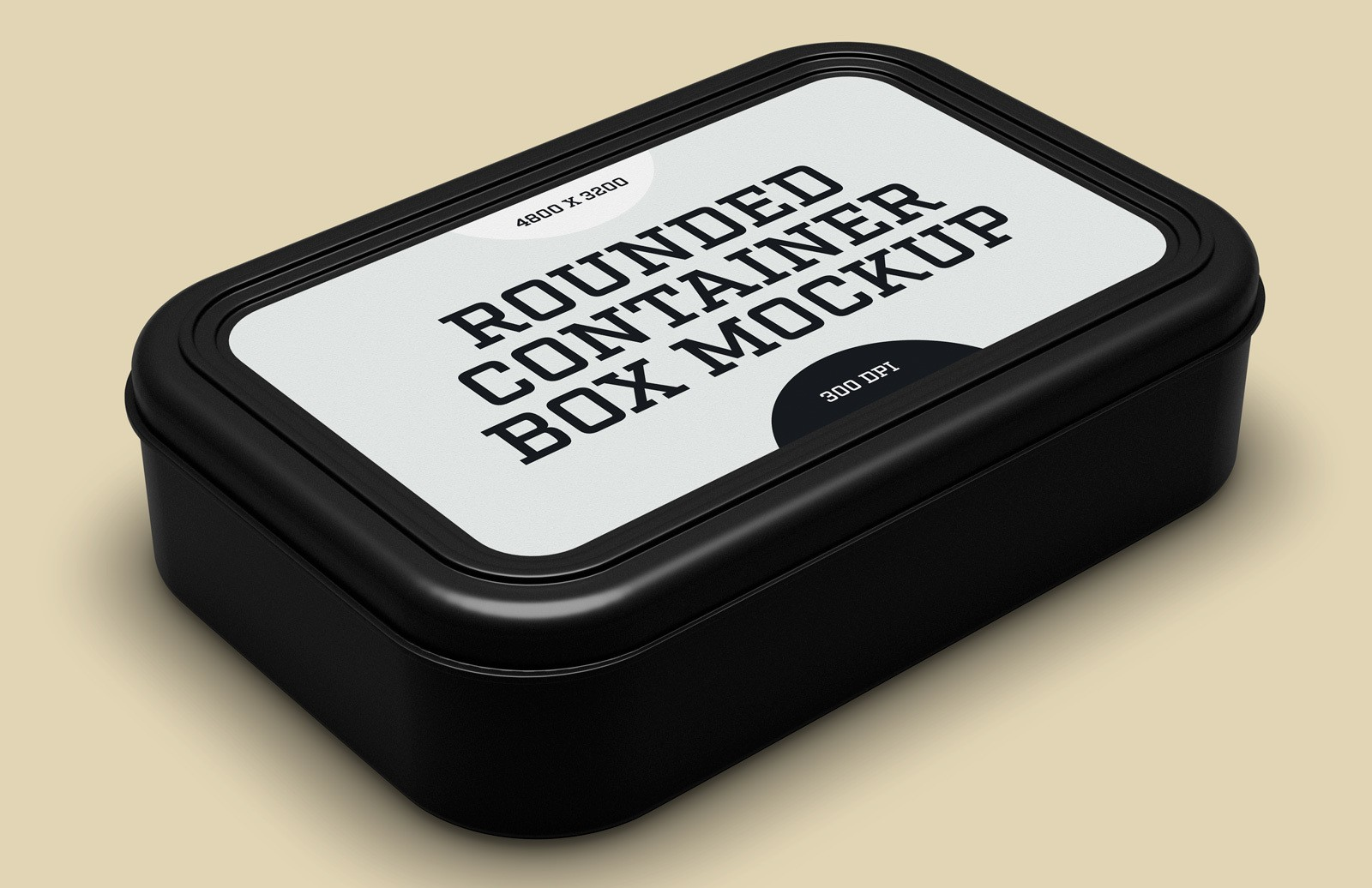 Rounded Container Box Mockup Preview 1