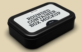Rounded Container Box Mockup