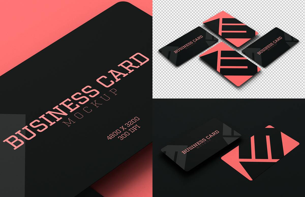 Rounded Corners Business Card Mockup Preview 1