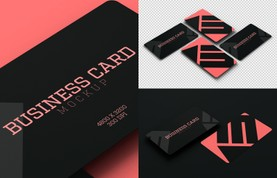 Rounded Corners Business Card Mockup