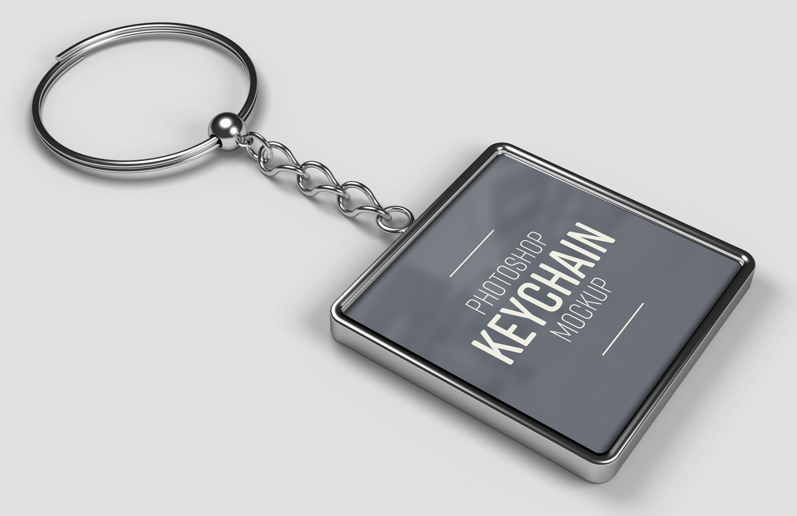 Rounded Square Keychain Mockup Preview 1