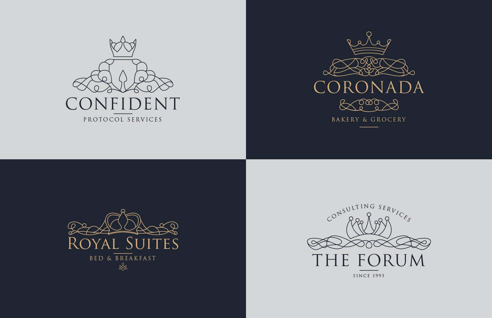 Royalty Logo Templates Preview 1B