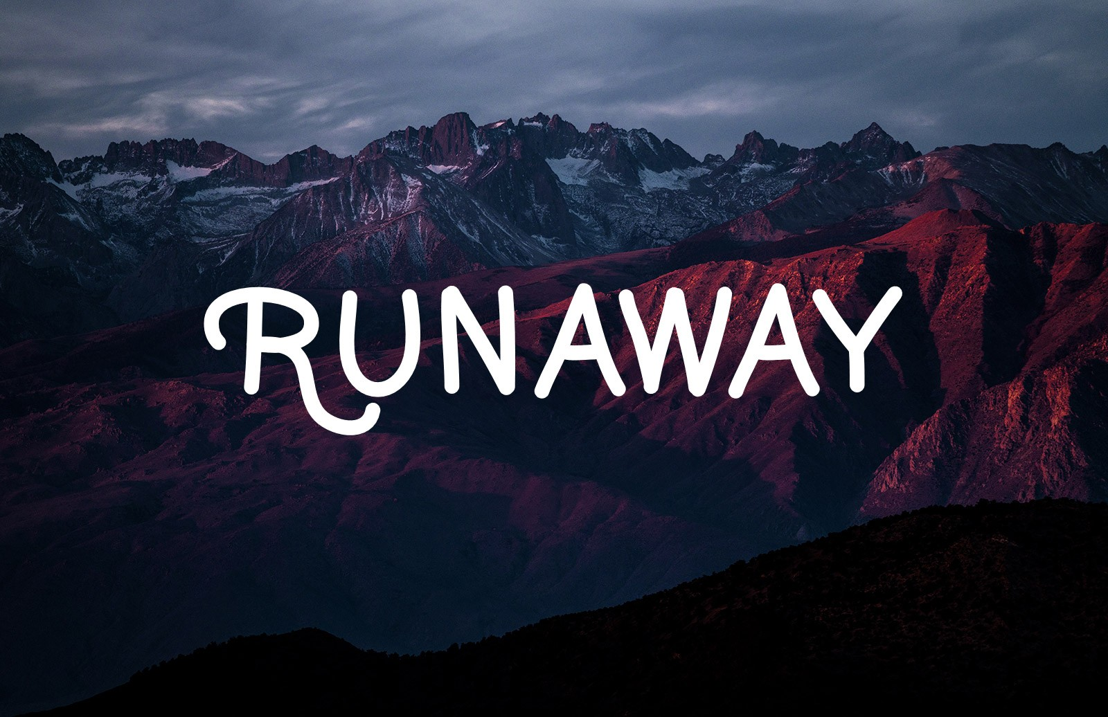 Runaway Handwritten Font 1