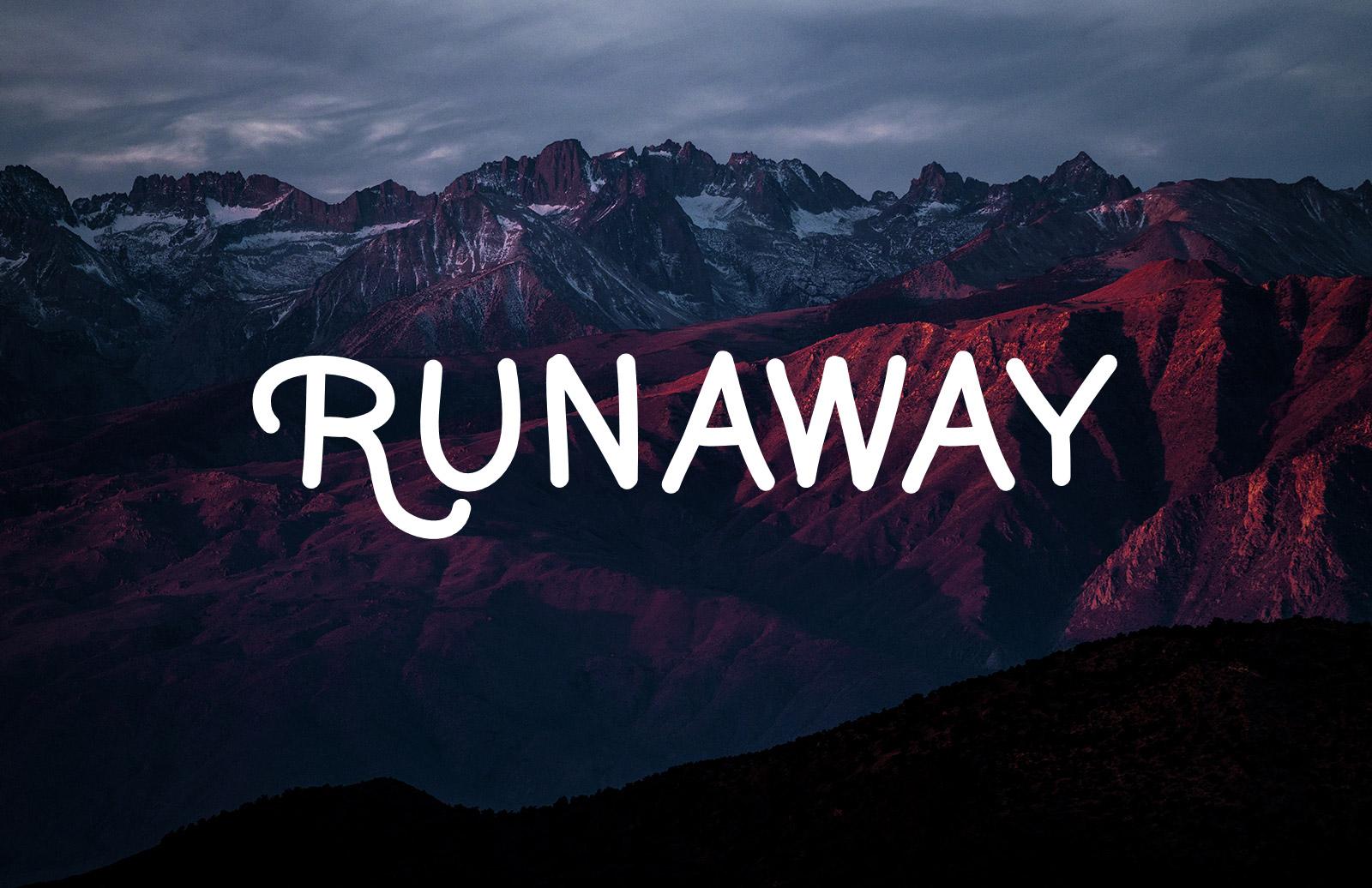 Runaway  Handrwritten  Font  Preview 1