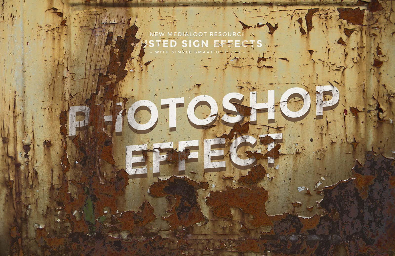 Large Rusted  Sign  Mockups  Preview 1