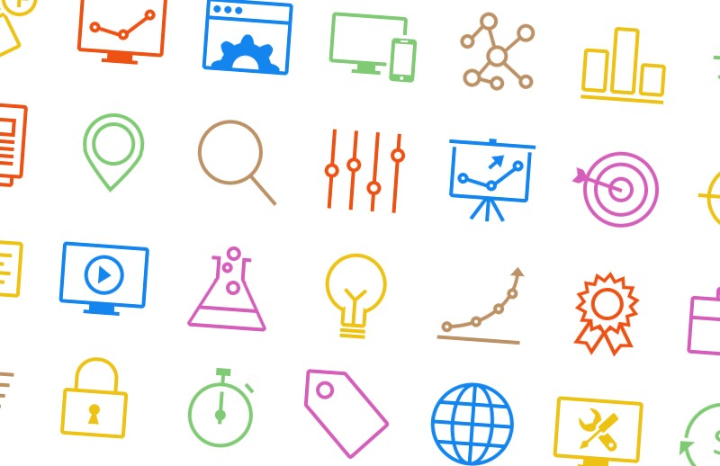 Vector Outlined SEO Icons