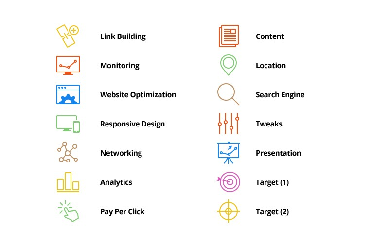 Large Seo  Vector  Icons  Preview 2