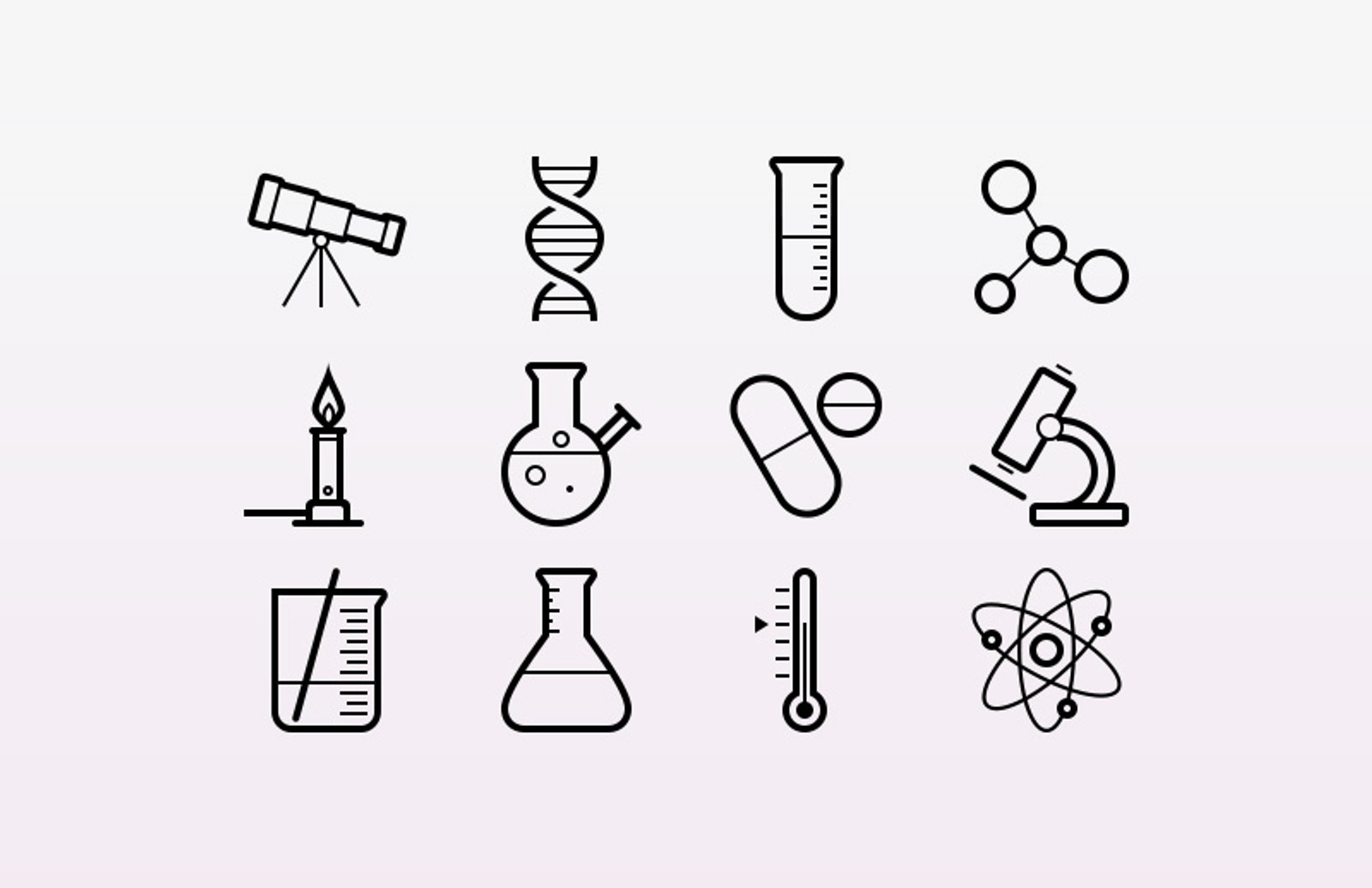 Science  Icons  Preview 1