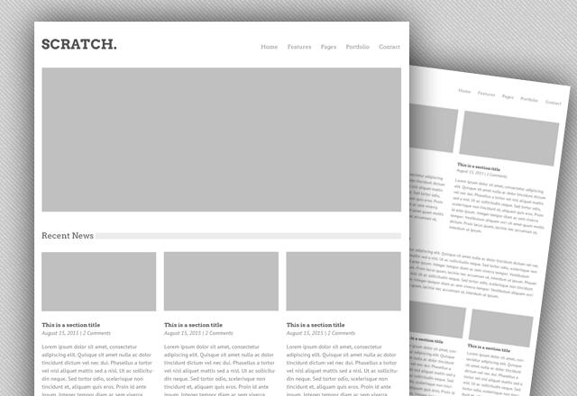 Scratch - Versatile PSD Web Template