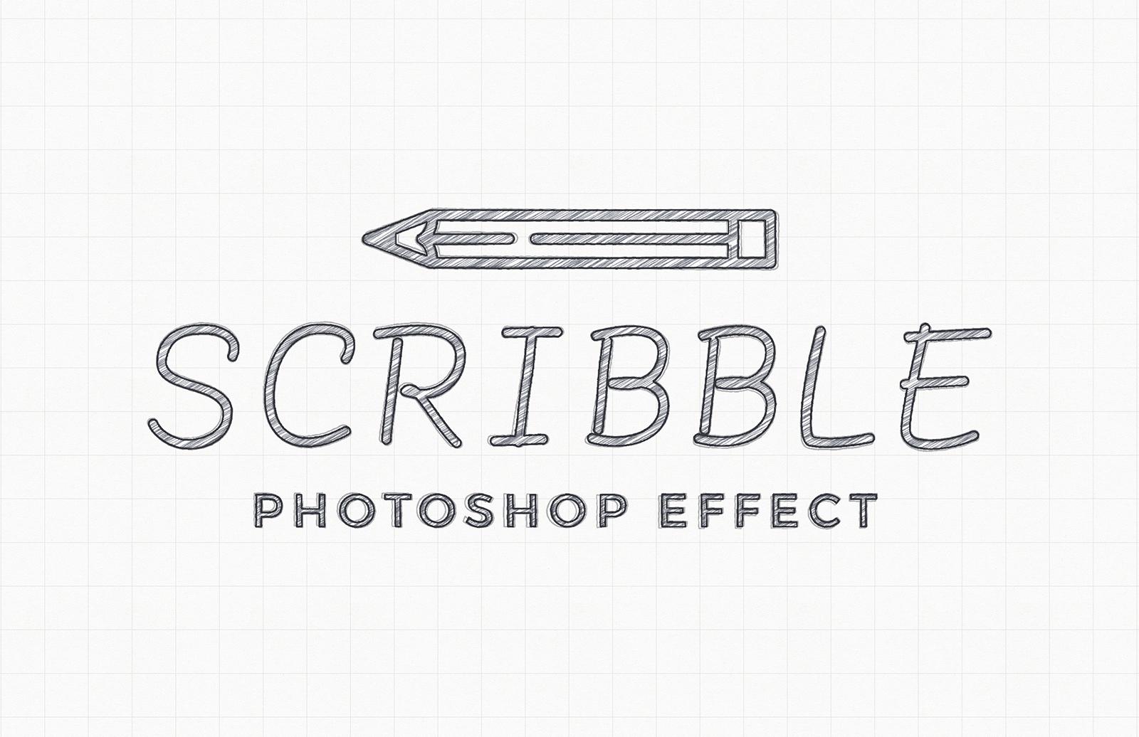 Scribble Photoshop Effect Mockup