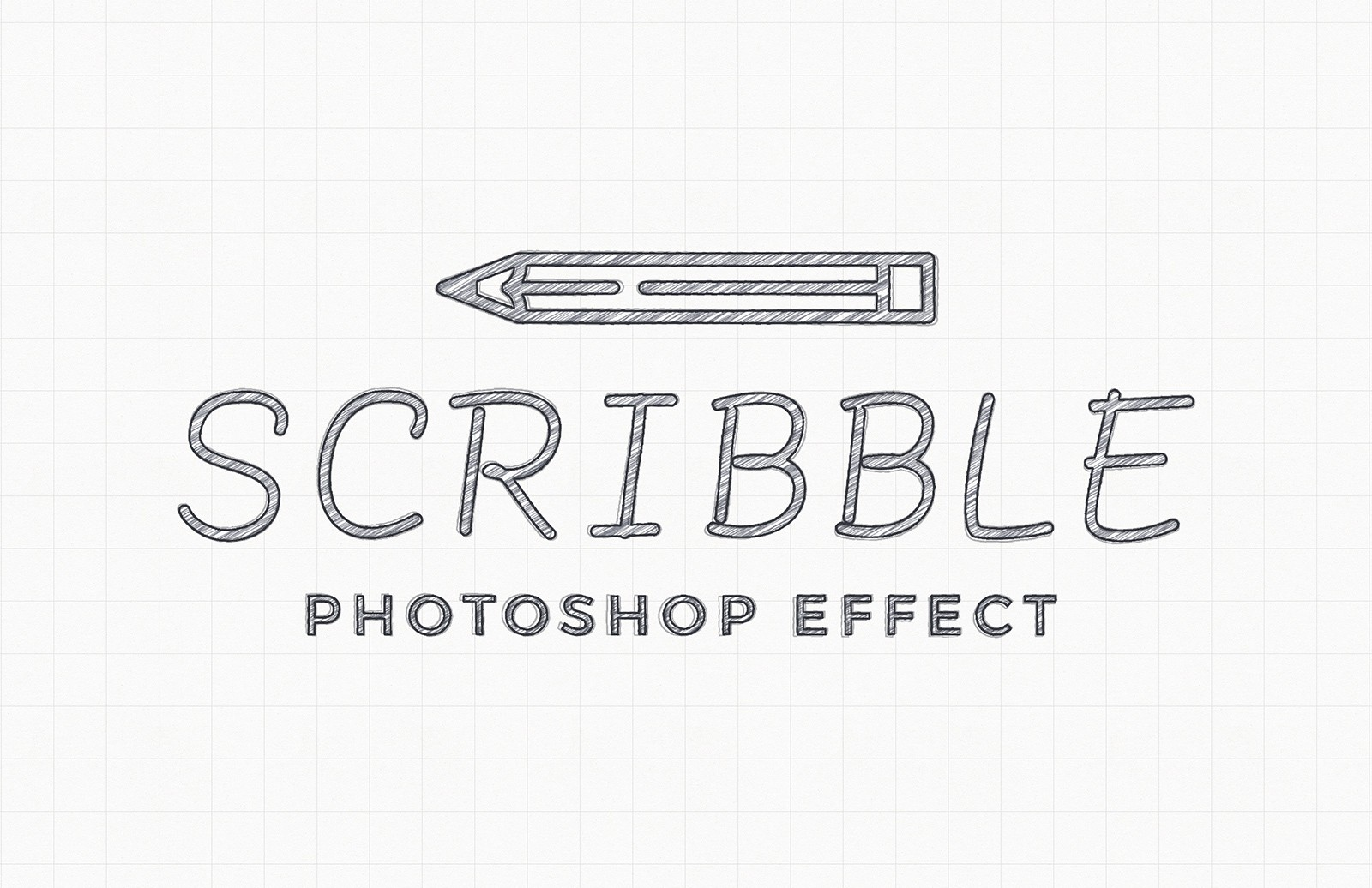 Large Scribble Photoshop Effect Mockup Preview 1