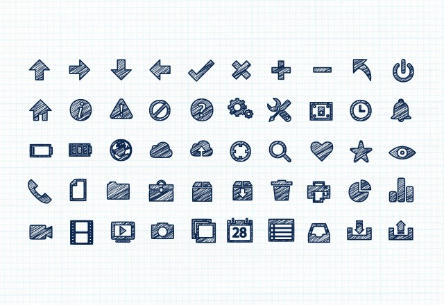 Scribble  Vector  Icons  Preview1