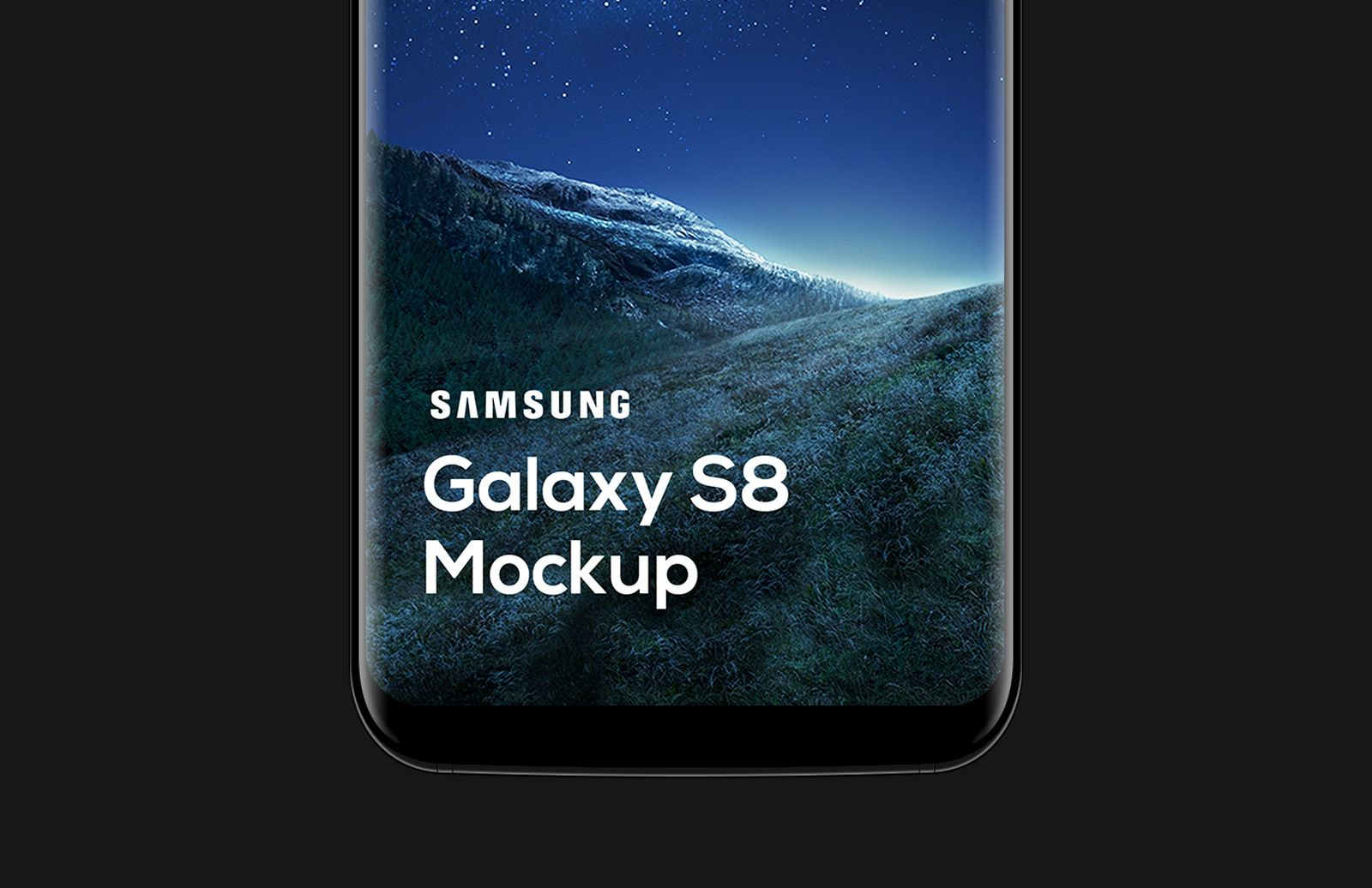 Samsung Galaxy S8 Mockup Preview 1