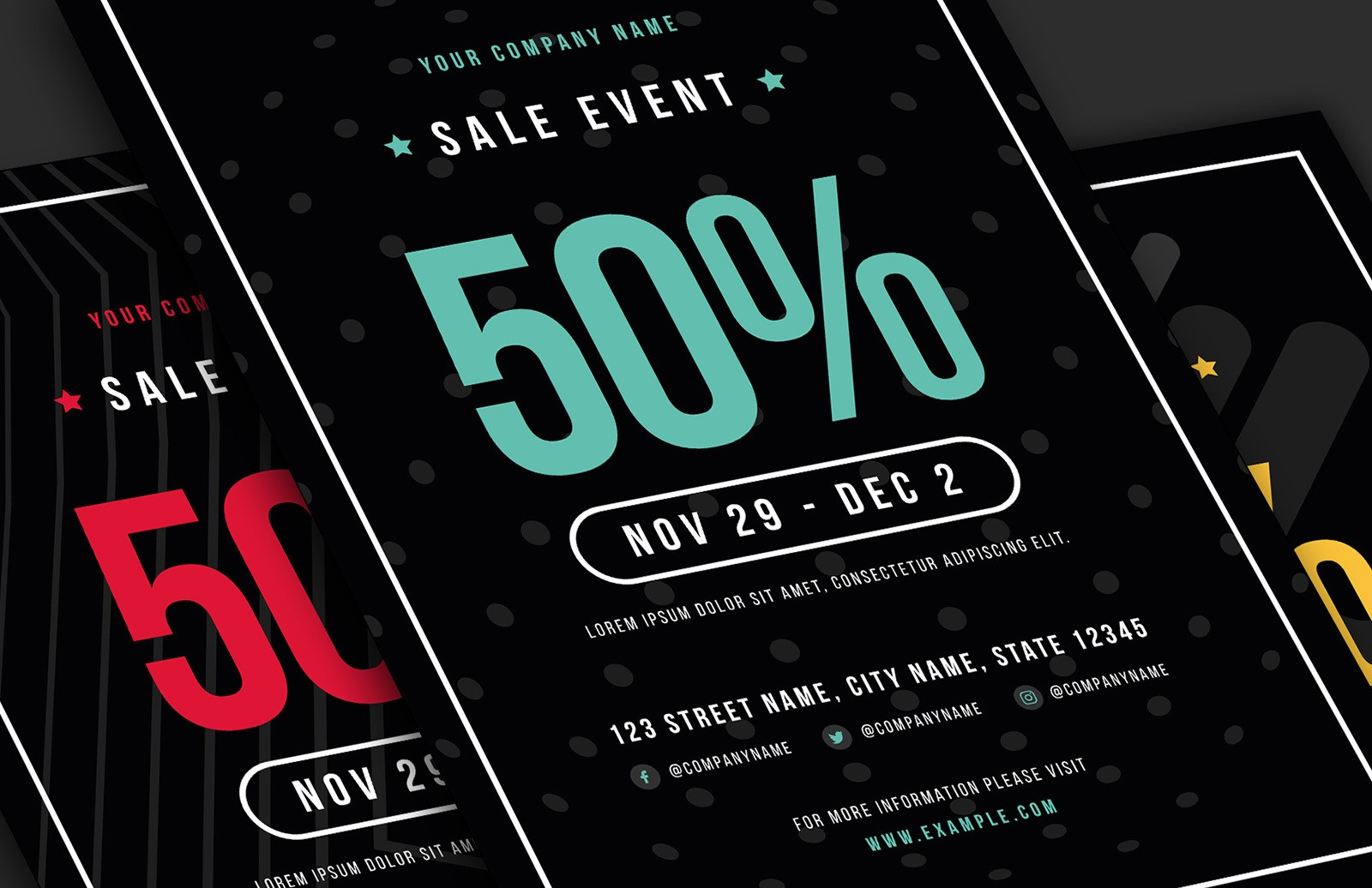 Sale Event Flyer Template Preview 1