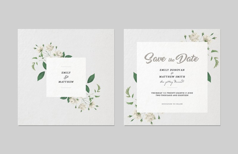 save the date invitation template medialoot. Black Bedroom Furniture Sets. Home Design Ideas