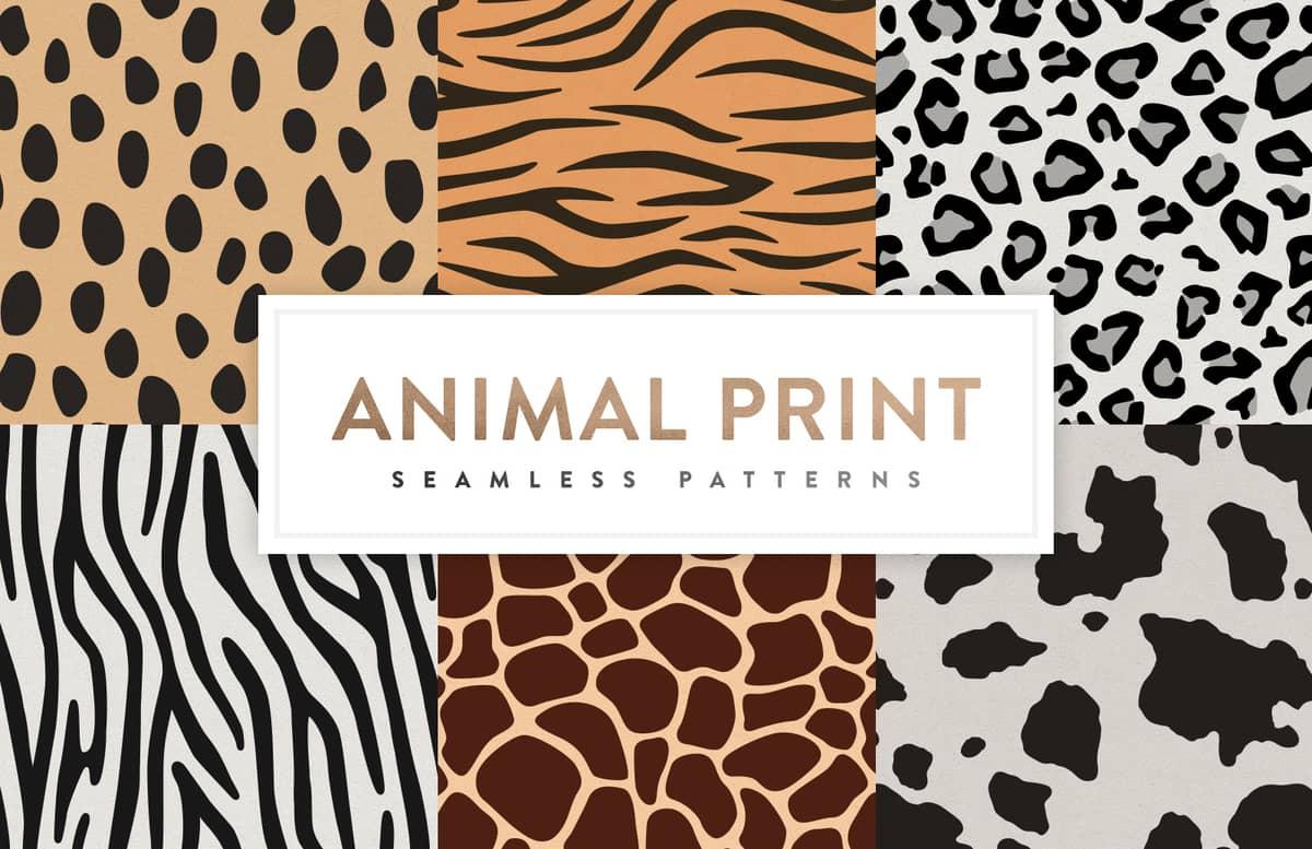 Seamless  Animal  Print  Patterns  Preview 1