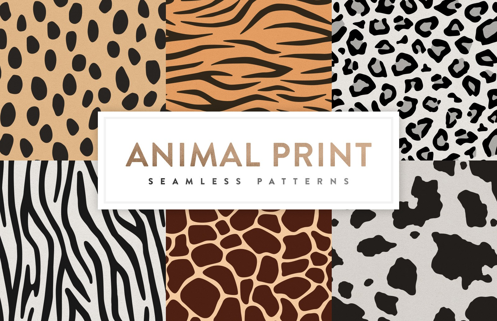 Seamless  Animal  Print  Patterns  Preview 1