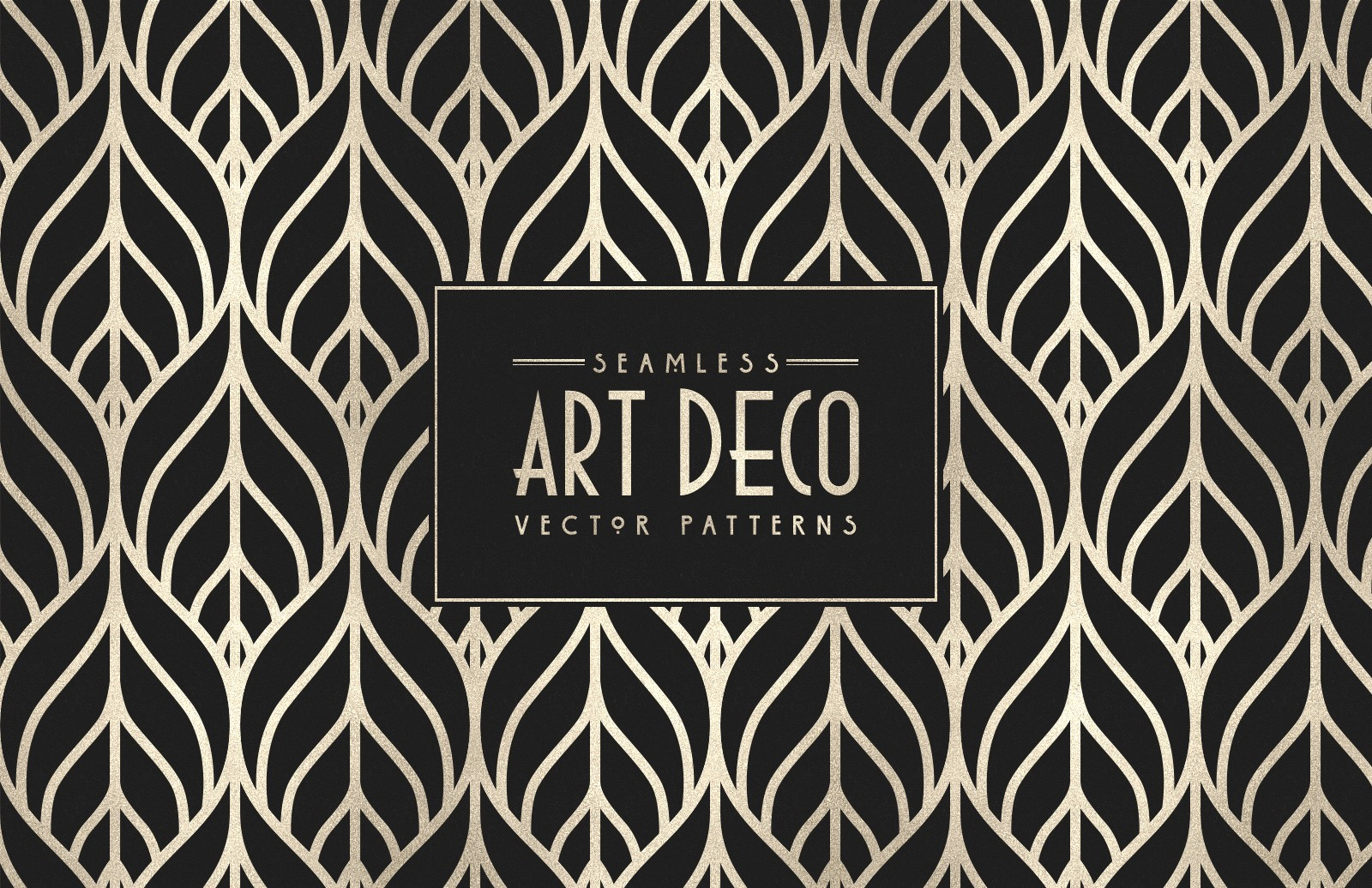 Seamless Art Deco Vector Patterns 2 Preview 1
