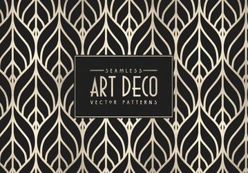 Seamless Art Deco Vector Patterns (Updated)