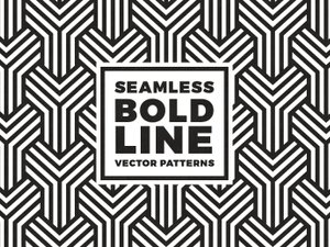 Seamless Bold Line Vector Patterns 1