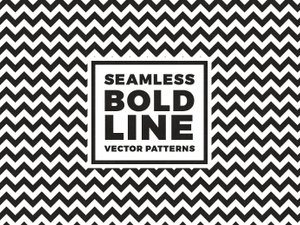 Seamless Bold Line Vector Patterns 2
