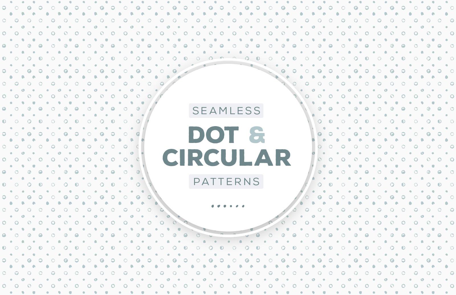 Seamless Circular Dot Patterns Preview 1