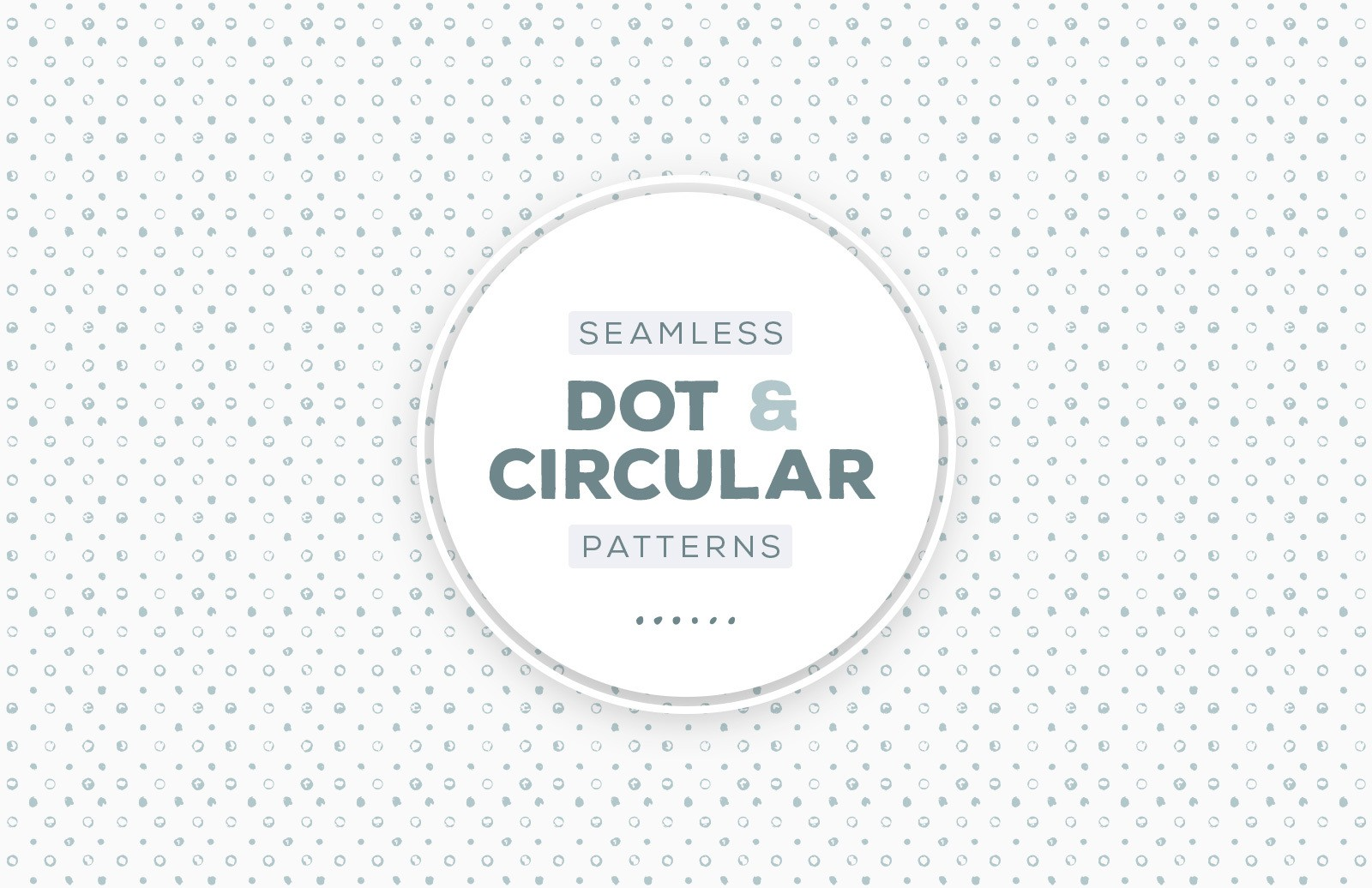 Seamless Circular Dot Patterns Preview 1