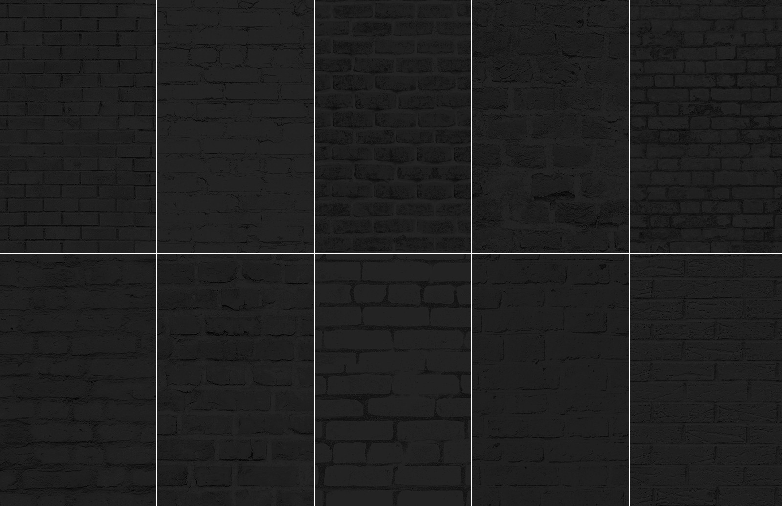 Seamless Dark Brick Textures
