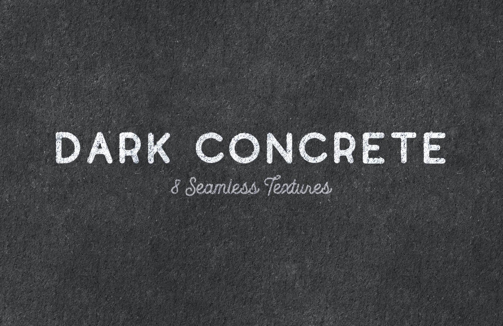Seamless Dark Concrete Textures Preview 1