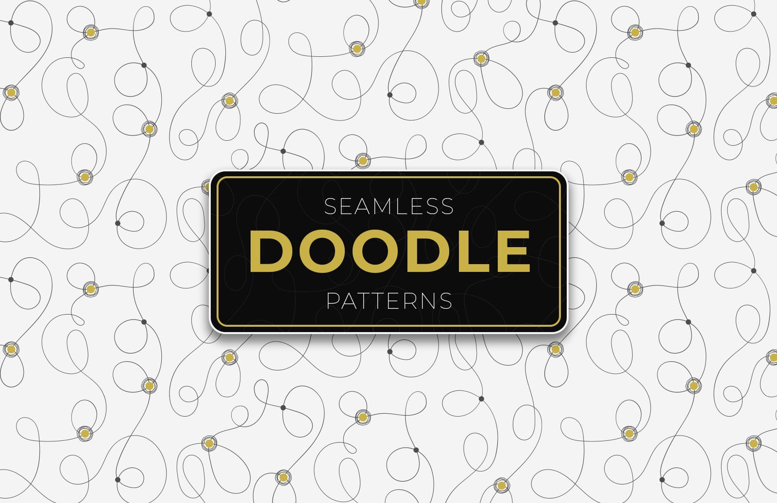 Seamless Doodle Patterns Preview 1