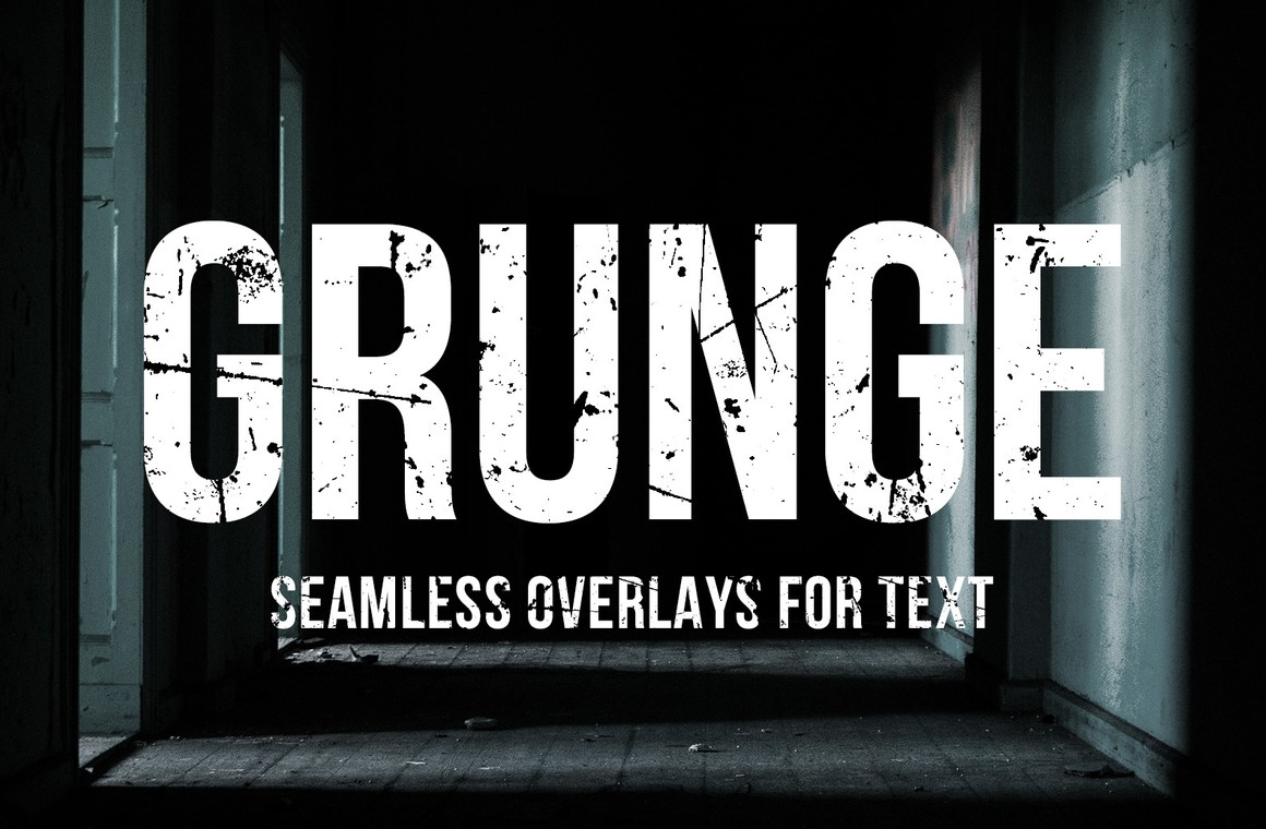 Seamless Grunge Text Overlays