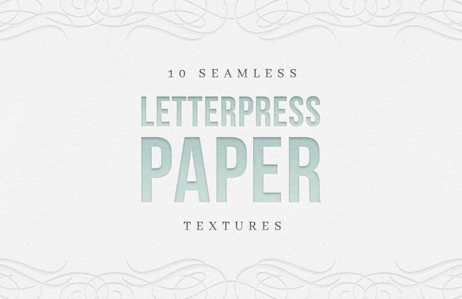Free Seamless Letterpress Paper Textures