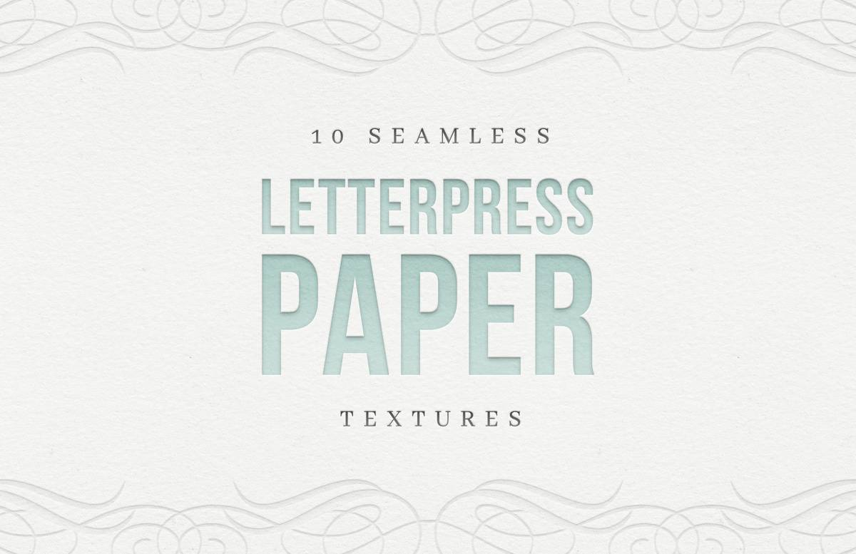 Seamless Letterpress Paper Textures Preview 1